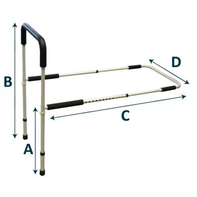 Sponda letto singola con gambe regolabili rehamed intermed s r l strumenti medicali e ausili - Gambe del letto ...